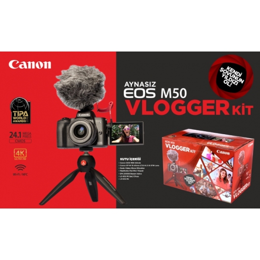 Canon EOS M50 15-45mm Vlogger Kit
