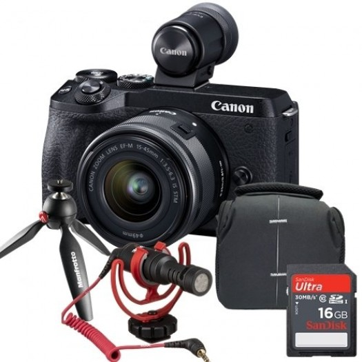 Canon EOS M6 Mark II 15-45mm Vlogger Kit