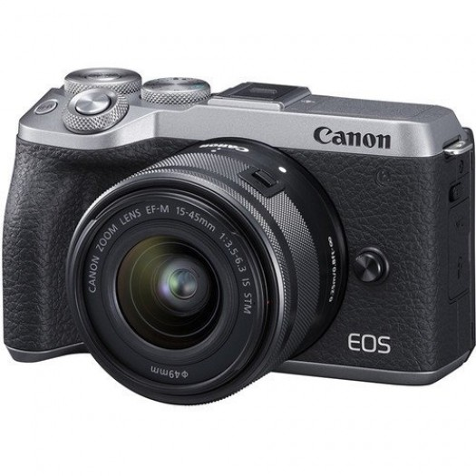 Canon EOS M6 Mark II 15-45mm Kit (Silver)