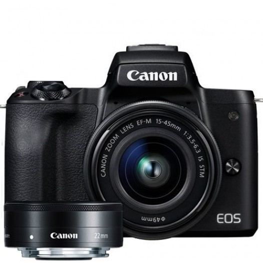 Canon EOS M50 15-45mm + 22mm STM Lens Kit