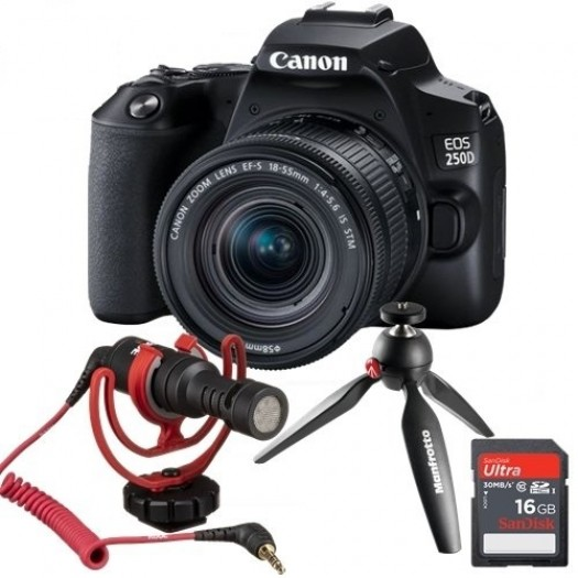 Canon EOS 250D +18-55mm IS STM Vlogger Kit