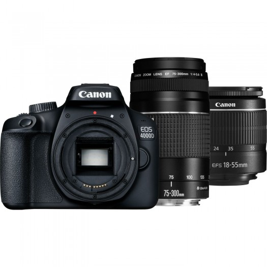 Canon EOS 4000D 18-55mm DC III + 75-300mm Kit