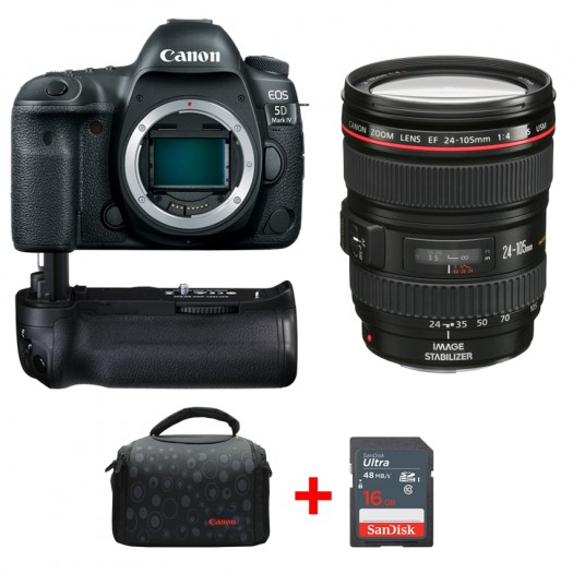 Canon EOS 5D Mark IV + 24-105mm f/4L IS USM + Battery Grip