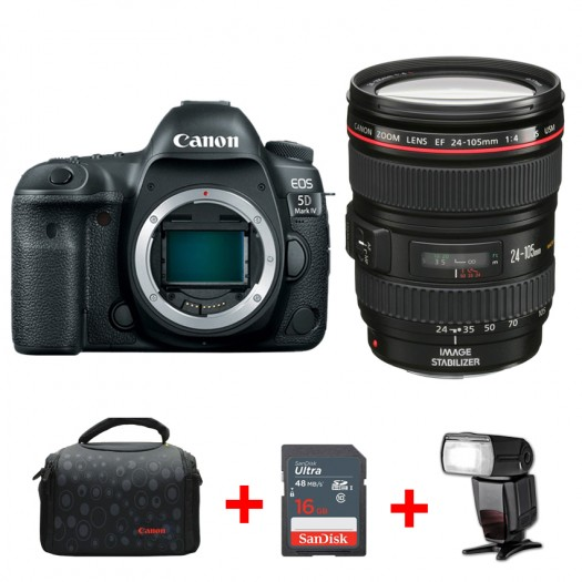 Canon EOS 5D Mark IV + 24-105mm f/4L IS USM + TTL Tepe Flaş