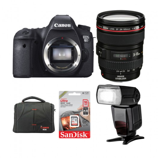 Canon EOS 6D + 24-105 F4 L IS USM + TTL Flash