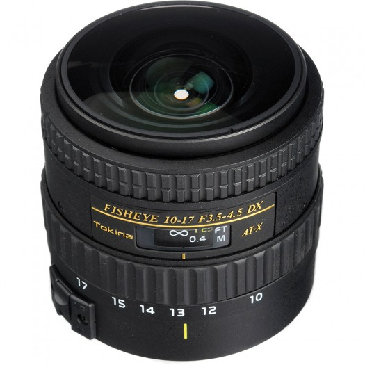 Tokina 10-17mm F3.5-4.5 AT-X Fisheye DX * Non Hood (Nikon)